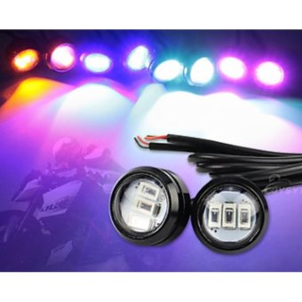 S&L Eagle Eye 3 Led Red With Free Motorcycle Switch On/Off