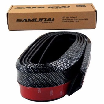 SAMURAI Rubber Lip Skirt Rubber Chin Protector Carbon Finished(Black)