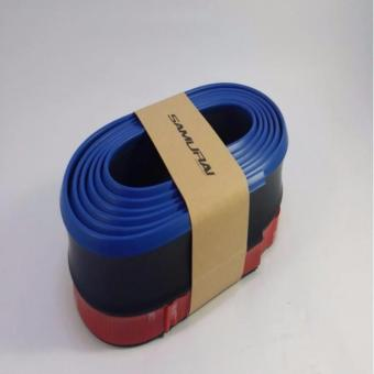 SAMURAI Rubber Lip Skirt Rubber Chin Protector(Black With Blue lining)