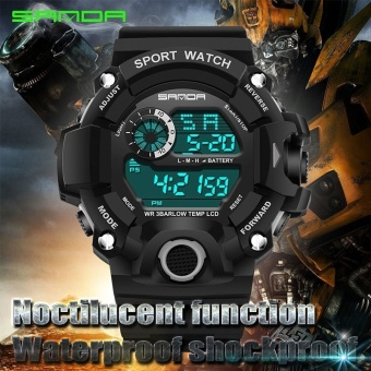 SANDA Watch 326 Military Electronic Wrist Watch Sport Top Brand Sanda Digital Wristwatches Men G Style Shock Watch Waterproof Shockproof - intl