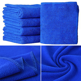Sanwood Blue Soft Microfiber Cleaning Towels For Car Auto Care 5Pcs - picture 2