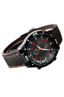 Sanwood Men's Red Number Racer Silicone Wrist Watch