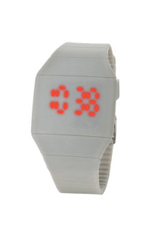 Sanwood Touch Digital Unisex Silicone Strap Watch Grey
