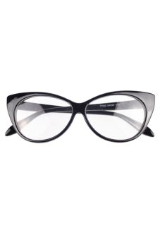 Sanwood Women's Classic Vintage Cat-Eye Glasses Black + Black