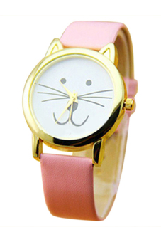 Sanwood Women's Pink Leather Strap Watch