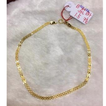 SAUDI Gold 100% 18K bracelets 1.5g L-7.5inches