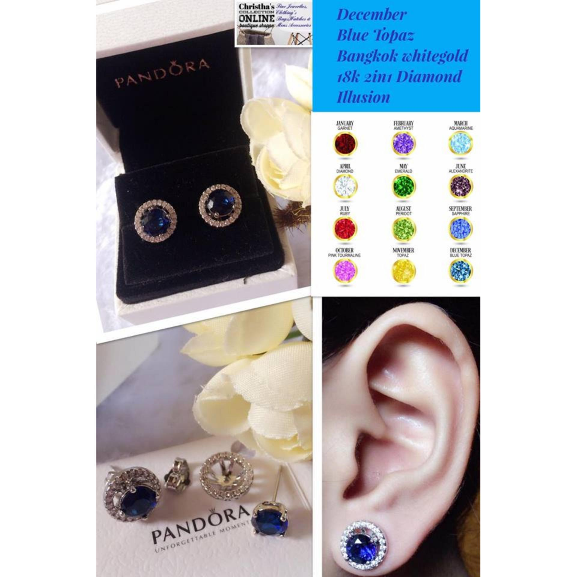 topaz earrings silver sterling bling birthstone pin december jewelry blue stud simulated
