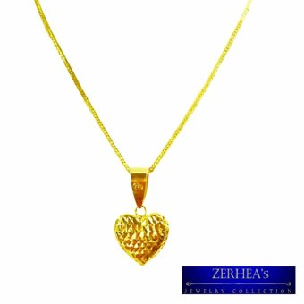 Saudi gold 18k womens necklace with heart pendant yellow gold saudi gold 18k womens necklace with heart pendant yellow gold aloadofball Choice Image