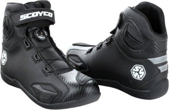 Scoyco Premium Gears MBT-Series MBT-010 Carbon Fiber A-Top TouringMotorcycle Racing Riding Gear Boots (Black) - 2