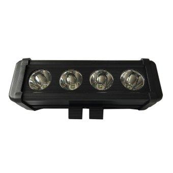Sec 00582 4 Bulb E Strip 40W LED Flood Light (Black)