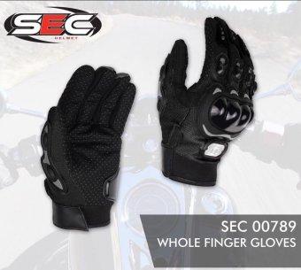 SEC 00789 Motorcycle Black Whole Finger Gloves - 4