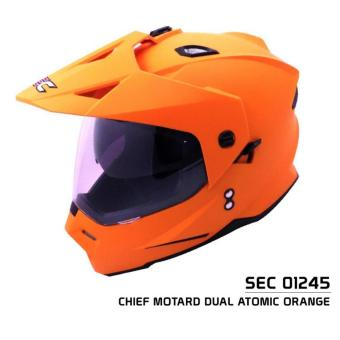 SEC 01245 Chief Motard Dual Atomic Orange Helmet (2017 Collection)
