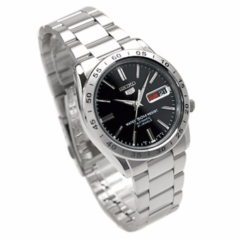 Seiko 5 Black Dial Stainless Steel Automatic Men's Watch SNKE01K1 - 2