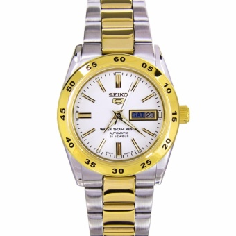 Seiko 5 Ladies Dual Tone Stainless Steel Automatic Watch SYMG42 - 2