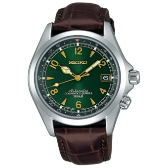SEIKO SARB017 Mechanical Alpinist Automatic Men's Leather Watch - Made In Japan - intl