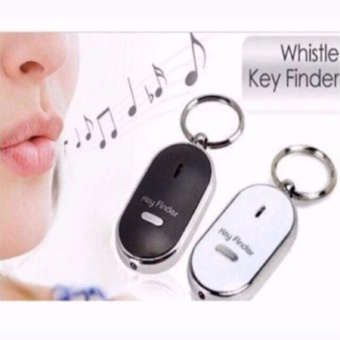 Set of 5 LED Anti-Lost Key Finder Keychain Whistle BeepSound(Assorted Color) - 2