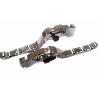 Set of LTC Motorcycle Racing Hand lever Break/Clutch lever forHonda TMX (Silver) - 4