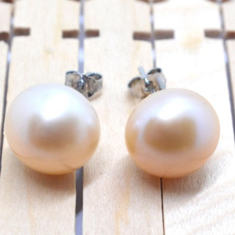 SH Jewels Real Freshwater Pearls 12mm studs