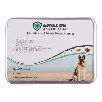 Shields Flea and Tick Collar for Dogs 63 cm (large dogs above 8 kg or 18 lbs) - 2 pcs - 4