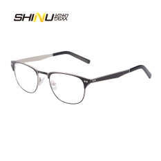 SHINU New Stainless Steel eye glasses Frame Men Eyeglasses Frames High Quality Women Optical Eyewear Frames