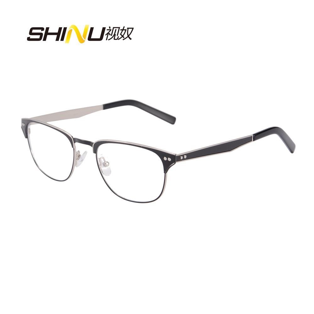 100ee3cdd3 SHINU New Stainless Steel eye glasses Frame Men Eyeglasses Frames High  Quality Women .