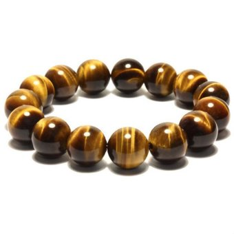 Shipping Tiger Eye Bracelet Men and Women Lucky Transport Tiger Eye Stone Bracelets Jewelry Lovers -12mm Bead Diameter (Unisex) (Intl)