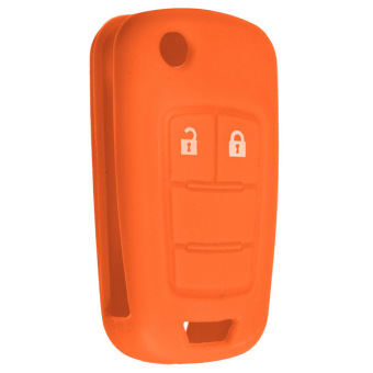 Silicone Key Case Holder Fob Protector Cover Housing for VAUXHALL / OPEL Orange