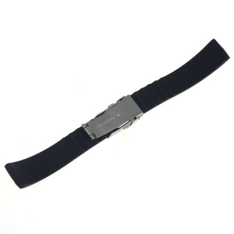 Silicone Rubber Watch Strap Band Deployment Buckle Waterproof 20mm - 5