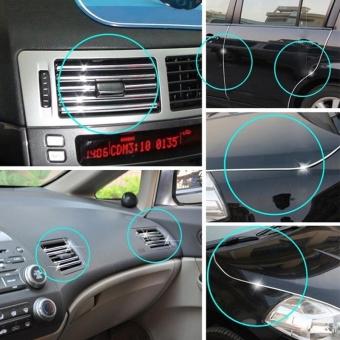 Silver Car Auto Truck Door Edge Guard Trim Molding Protector Strip, Length: 15m - 4