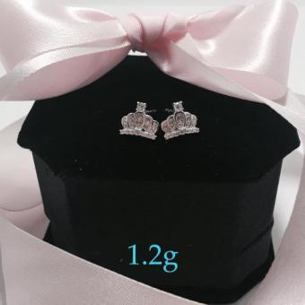 Silver Kingdom PH Embellished Crown Earrings Price Philippines