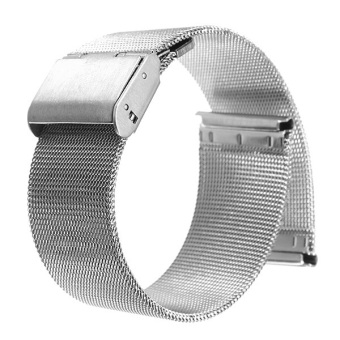 Silver Stainless Steel Watch Mesh Net Bracelets Straps Band 22mm