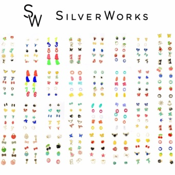 Silverworks Assorted Set of 5 Earrings (Design may Vary)