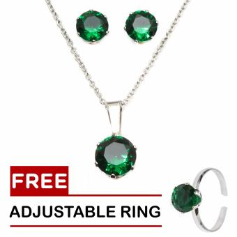 Silverworks May Birthstone Sets with Free Adjustable Ring