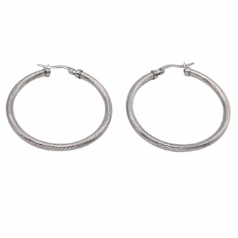 Silverworks X1212 Medium Twisted Earring (Silver)