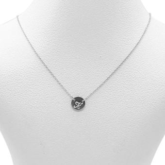 Silverworks X1795 Letter K Necklace (Silver)