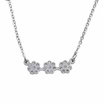 Silverworks X3289 Flower Design Necklace and Earrings - 2