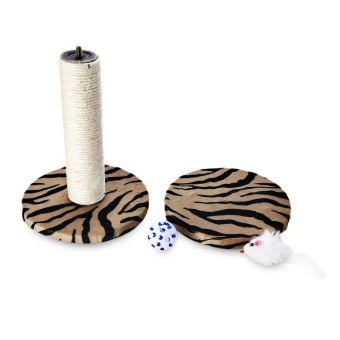 Single Platform Kitten Small Cat Tree Tower Playground With Scratching Posts Hanging Toy (Zebra Stripes) - intl - 5