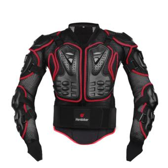 Size XL Red Professional Motorcycle Body Protection Racing FullBody Armor Spine Chest Protective Jacket Gear - intl