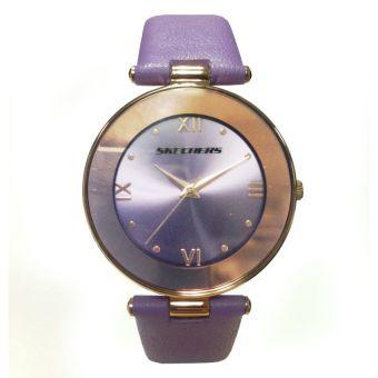 Skechers Precious Purple Genuine Leather Strap Watch 60773