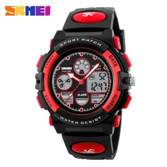 SKMEI 1163 Digital Men's Watch Outdoor Sport Watches Chronograph Fashion Clock PU Band Waterproof Wristwatches for Men