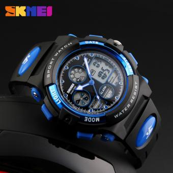 SKMEI 1163 Digital Men's Watch Outdoor Sport Watches Chronograph Fashion Clock PU Band Waterproof Wristwatches for Men - 4
