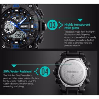 Skmei 1228 SKMEI Fashion Dial Outdoor Sports Watches Men Electronic Quartz Digital Watch 50M Waterproof Wristwatches Relogio Masculino 1228 - 5