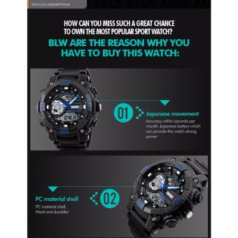Skmei 1228 SKMEI Fashion Dial Outdoor Sports Watches Men Electronic Quartz Digital Watch 50M Waterproof Wristwatches Relogio Masculino 1228 - 4