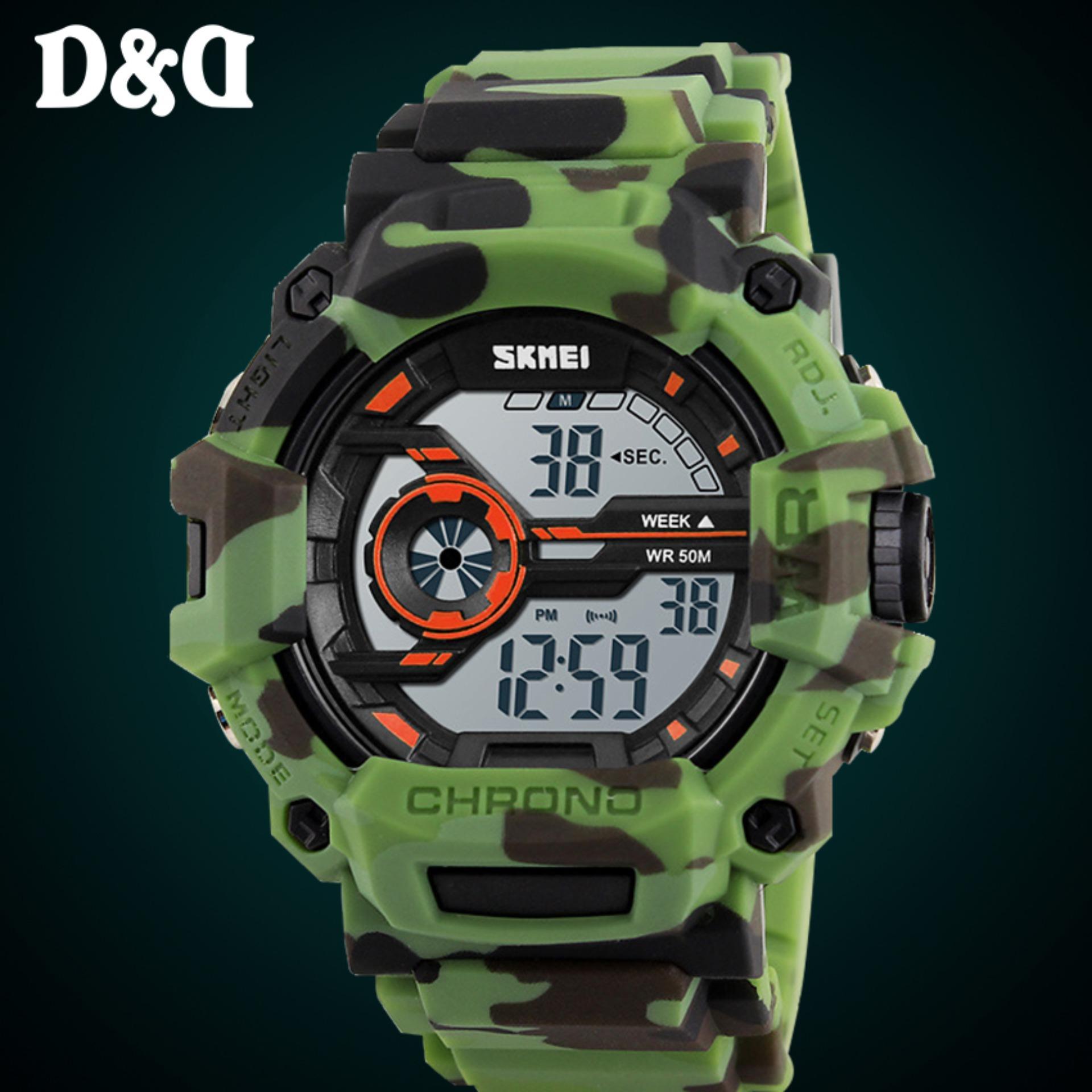 ... SKMEI 1233 Men's LED Luminous Watch Water Resistant Day Date Alarm Stopwatch Sports Rubber Strap Wristwatch ...