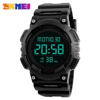 SKMEI 1248 Men's LED Digital Countdown Sports Watch BLack - intl
