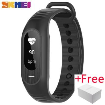 SKMEI Blood Pressure Smart Wristband OLED Men Heart Rate Tracker Pedometer Watches Bluetooth 4.0 Message Call Reminder IOS B15P
