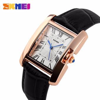 Skmei Leather Strap Women's Watch 1085 (Black) - 2