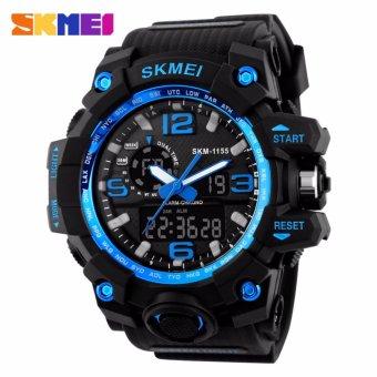 Skmei Silicone Strap Men's Watch AD1155 (Black/Blue)