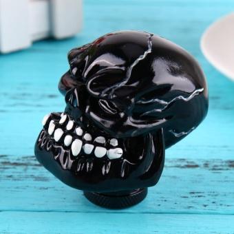 Skull Head Car Gear Shift Knob Modification Car InteriorAccessory(Black) - intl - 3