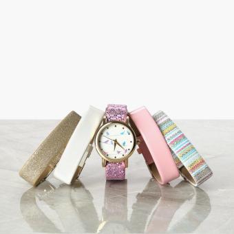SM Accessories Girls Birds Interchangeable Strap Watch